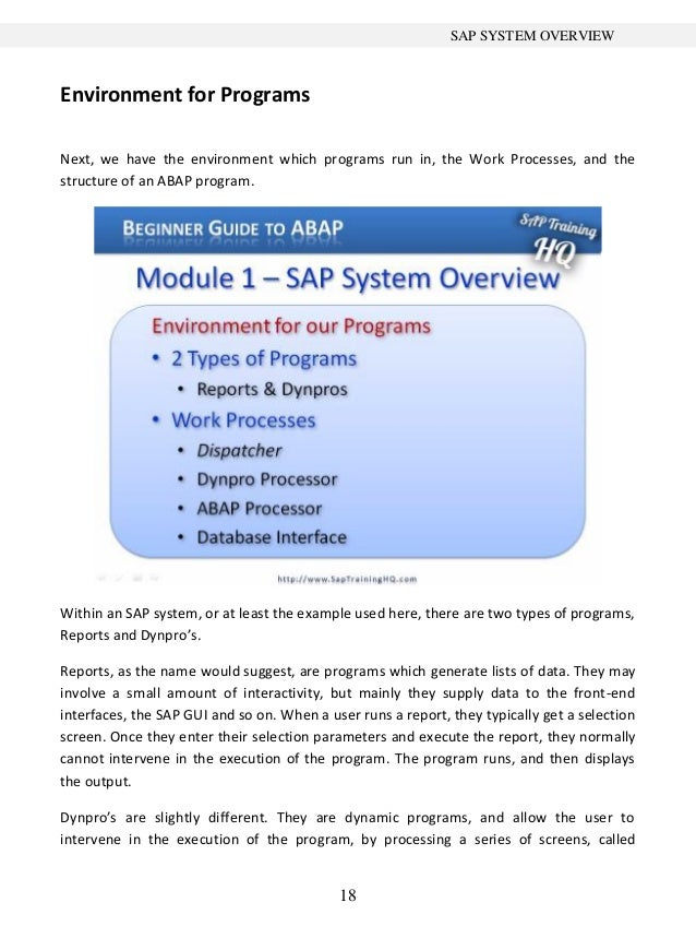 beginner s guide to sap abap 1 rh slideshare net Vida SAP ABAP sap abap beginners tutorial