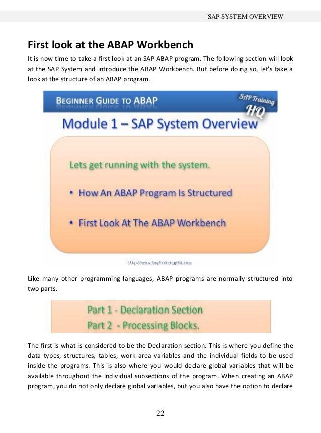 beginner s guide to sap abap 1 rh slideshare net SAP ABAP Jobs sap abap beginners guide