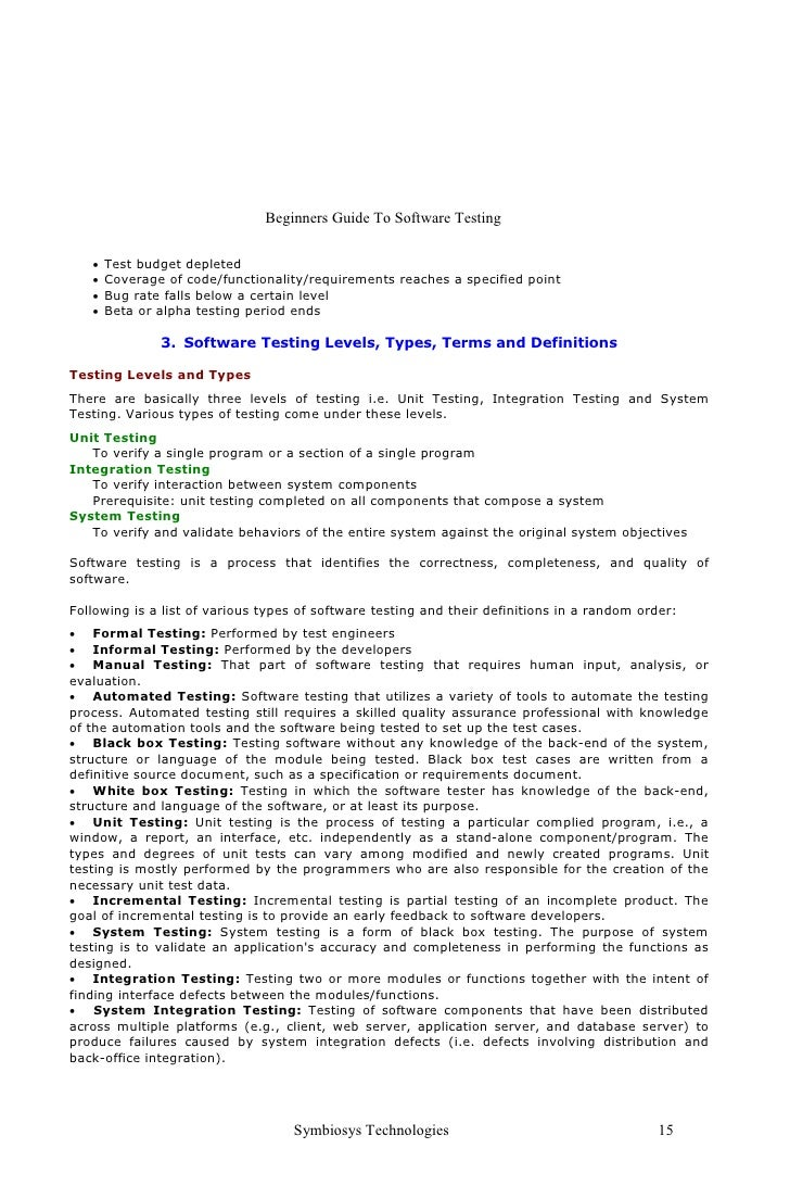 best integration testing template pictures inspiration