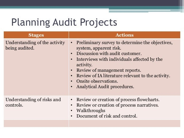 Process Auditing and Techniques