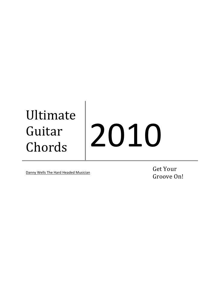 Beginning Guitar Lessons Chord Book