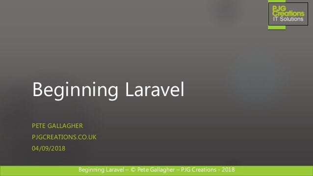 Beginning Laravel Workshop - September 2018