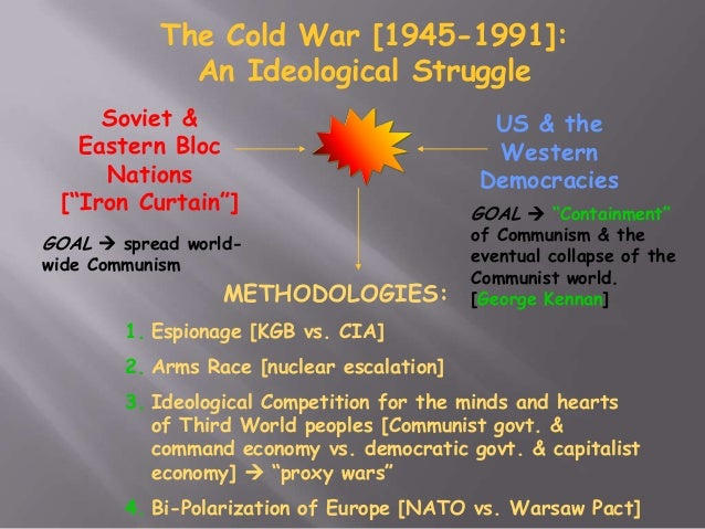 account of the start of the cold war