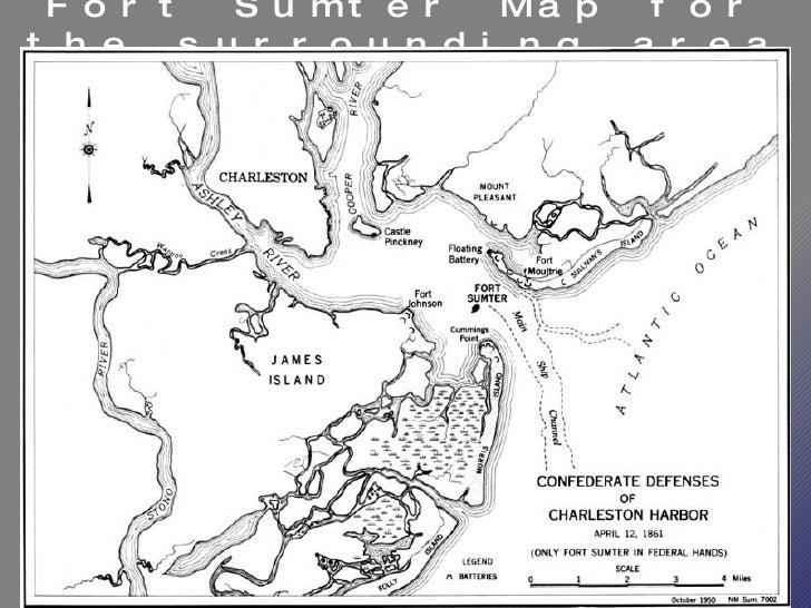 Beginning Of The Civil War Powerpoint US History I - Fort sumter on us map