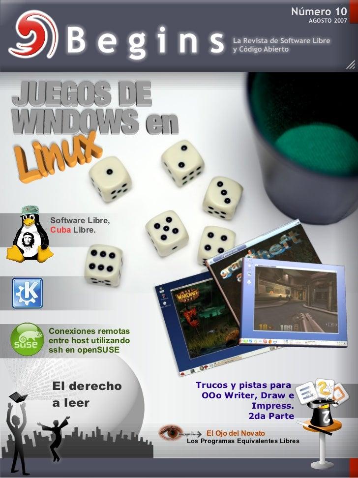 Número 10                                                            AGOSTO 2007Software Libre,Cuba Libre.NovedadesdeKDE...