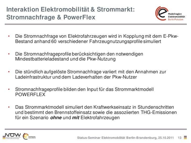 Interaktion Elektromobilität & Strommarkt:Stromnachfrage & PowerFlex•   Die Stromnachfrage von Elektrofahrzeugen wird in K...