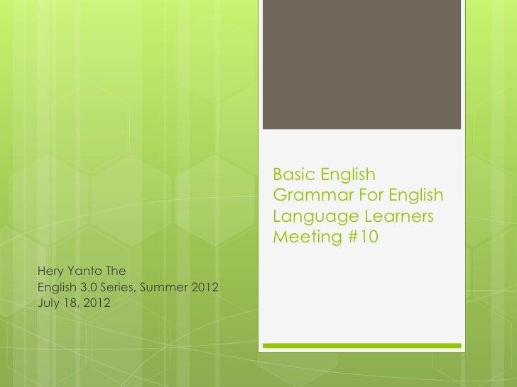 Basic English                                  Grammar For English                                  Language Learners     ...