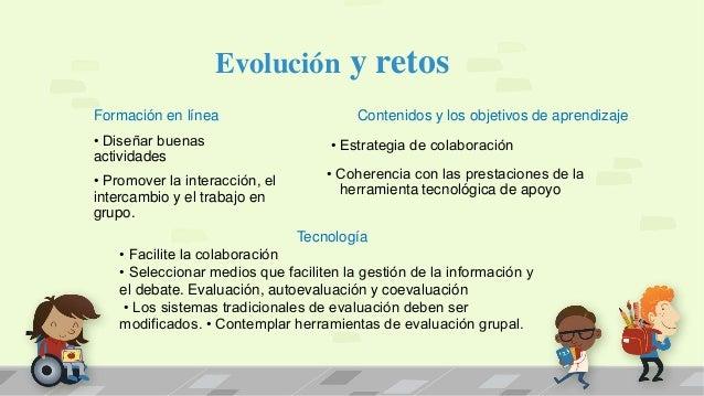 Evolución y retos Contenidos y los objetivos de aprendizaje • Estrategia de colaboración • Coherencia con las prestaciones...