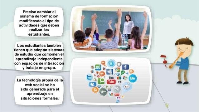 Preciso cambiar el sistema de formación modificando el tipo de actividades que deben realizar los estudiantes. Los estudia...