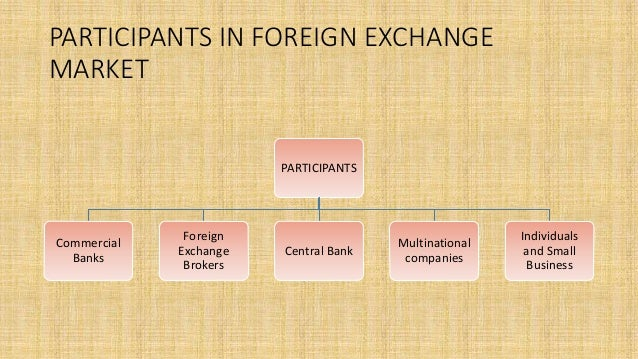 Forex markets participants