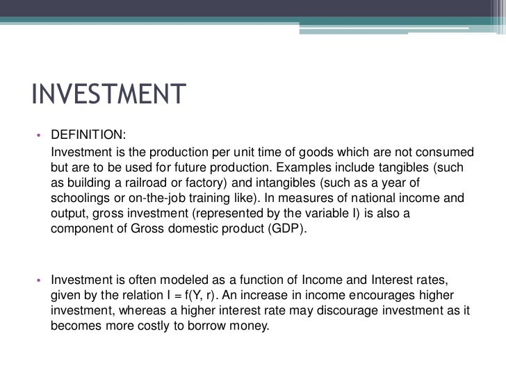 autonomous investment definition with example