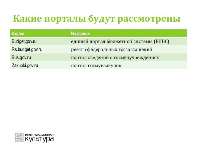 Основные источники информации о госфинансах в России Slide 3