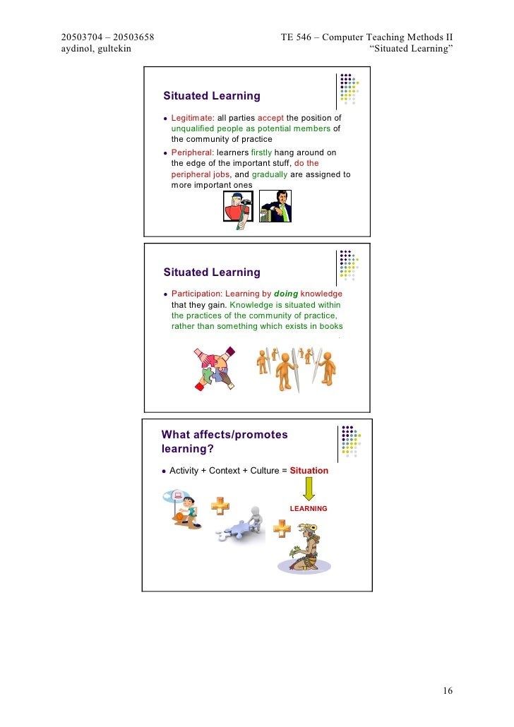 situated learning legitimate peripheral participation pdf
