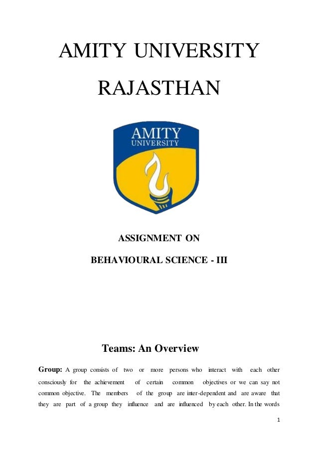 amity university assignments answers