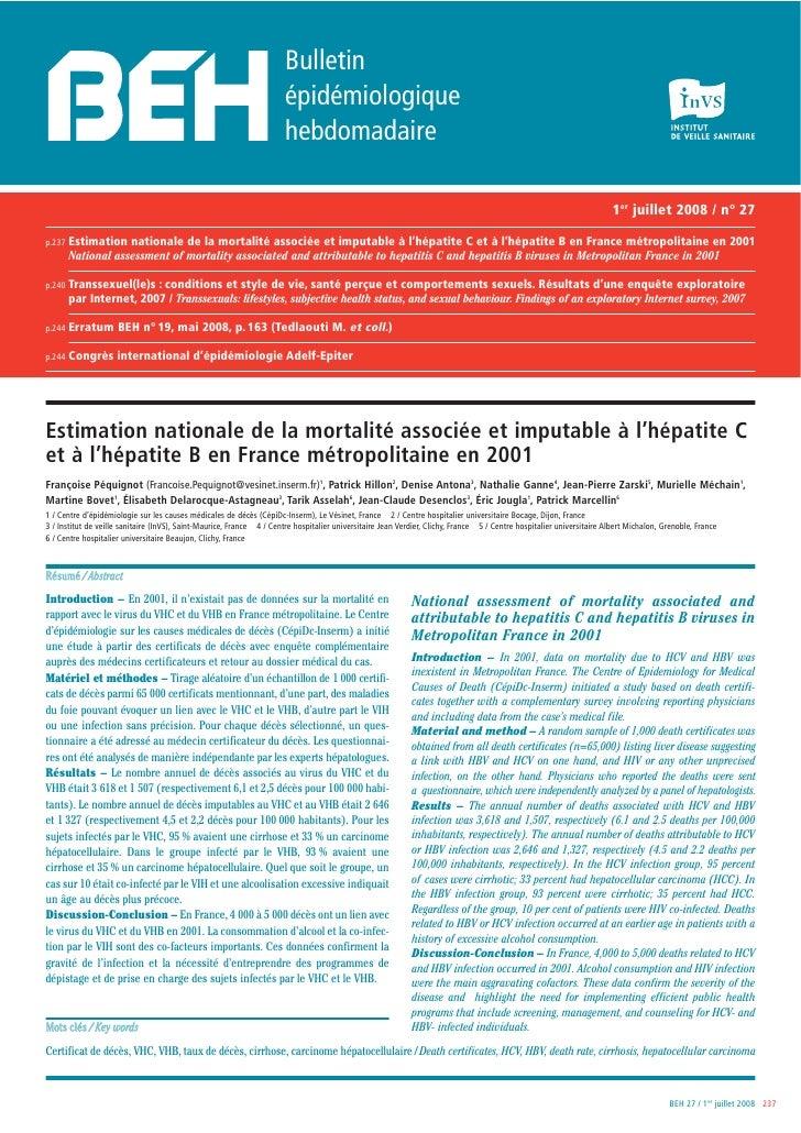Bulletin                                                                        épidémiologique                           ...