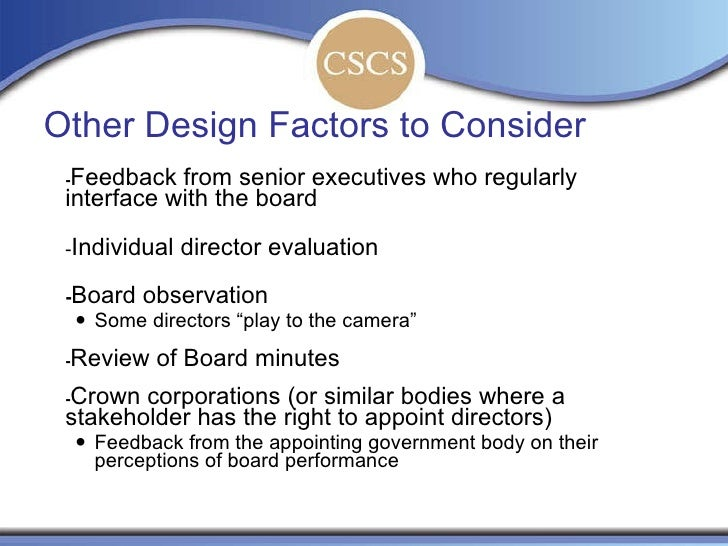 Best Practices in Board Evaluation and Director Evaluation