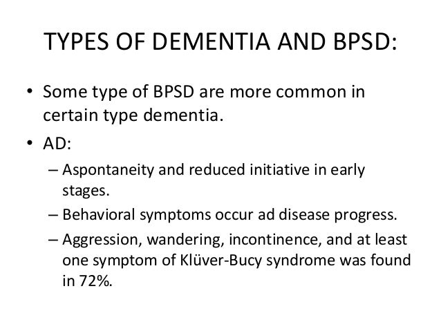 Behavioral Manifestations of Alzheimers Dementia