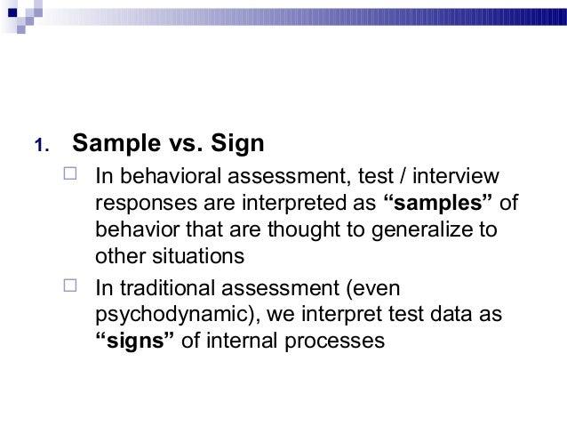 behavioral assessment sample