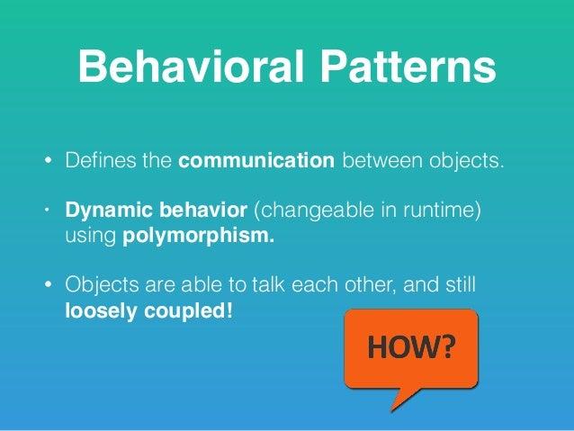 Behavioral Design Patterns Classy Behavioral Patterns