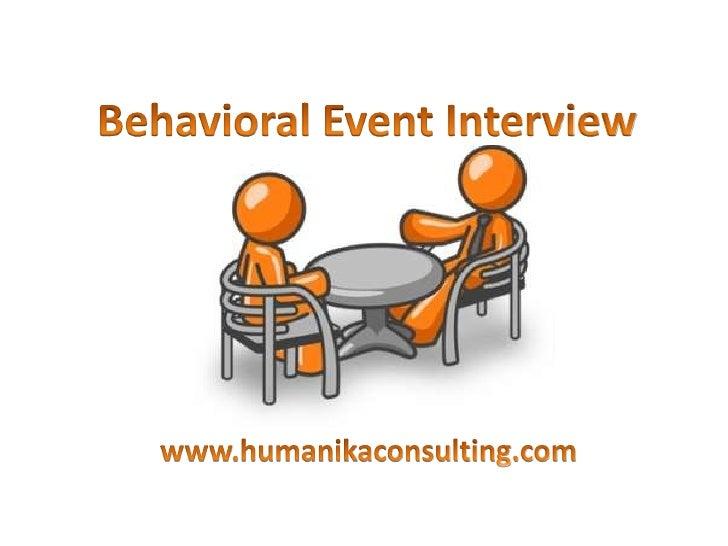 Behavioral Event Interview Presentation