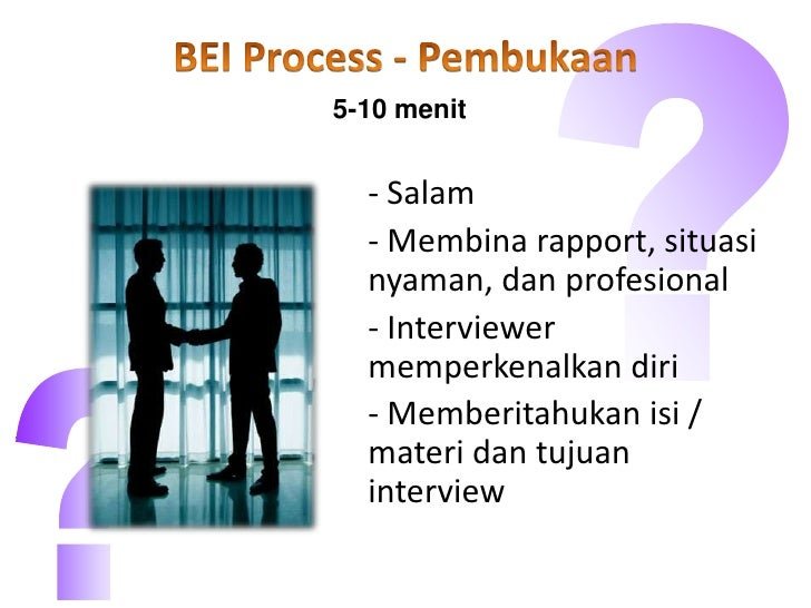 behavioral event interview presentation