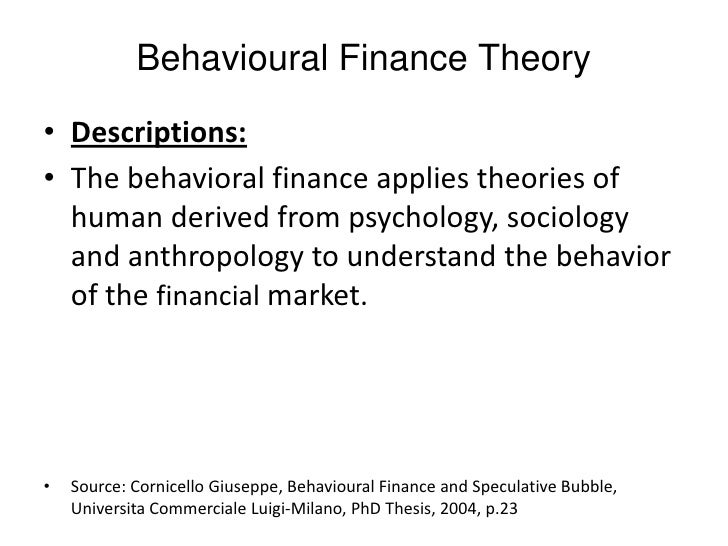 Literature review on behavioral finance theory