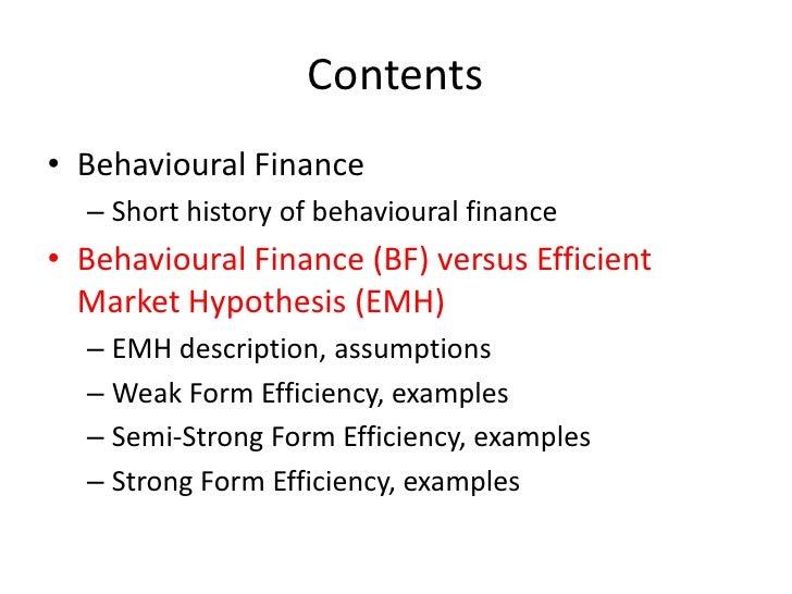 Bachelor thesis behavioral finance