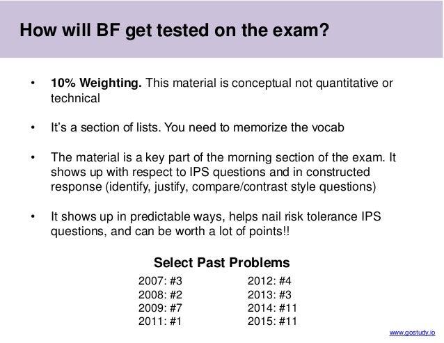 CFA Level 3 Exam - Behavioral Finance Perspectives (SS3