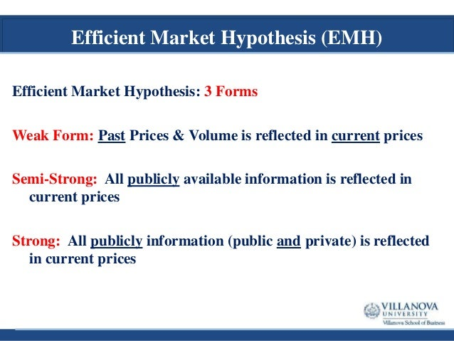 """efficient market hypothesis and behavioral finance 10efficient markets hypothesis/clarke 1  issues in finance  empirical evidence supporting it than the efficient market hypothesis,"""" while investment."""