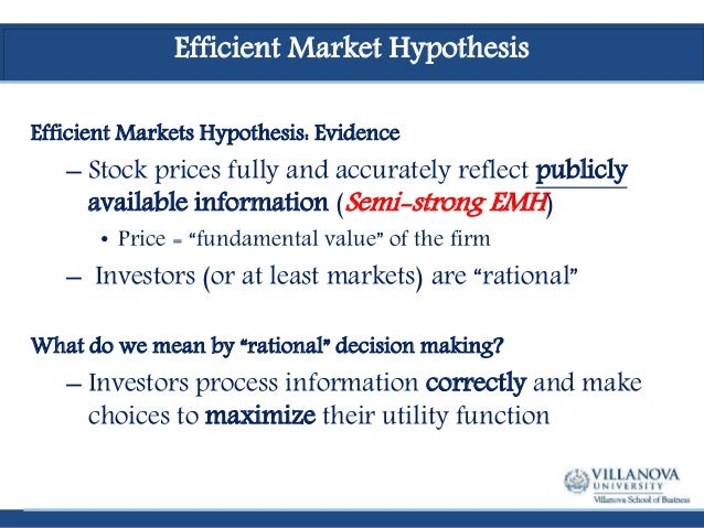emh vs behavioral finance Influence of certain identified behavioral finance concepts (or biases), namely,   emh efficient market hypothesis mpt modern portfolio theory sensex.