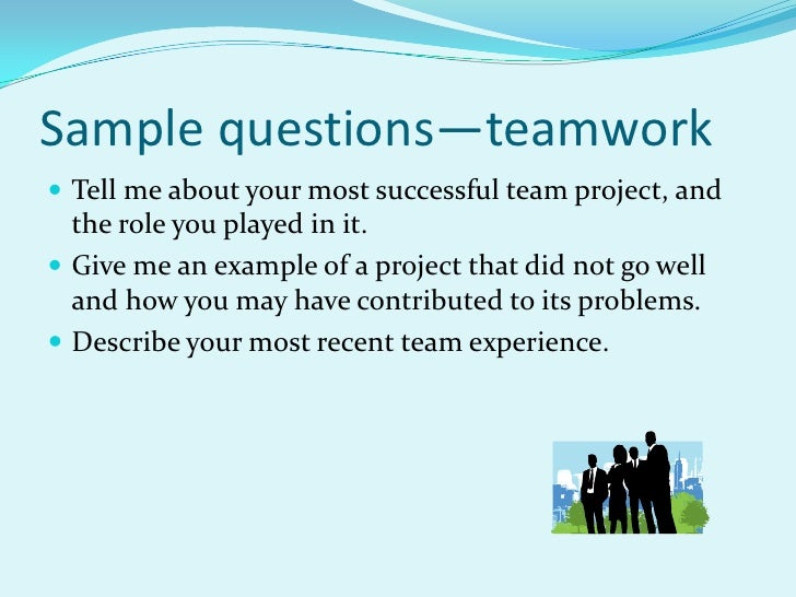 interview questions about teamwork