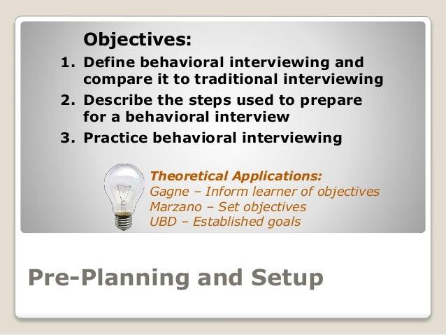 behavioral interviewing content  u0026 graphics