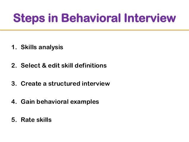 behavioral interview examples