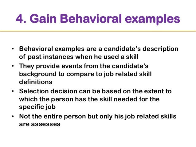 behavioral interview examples