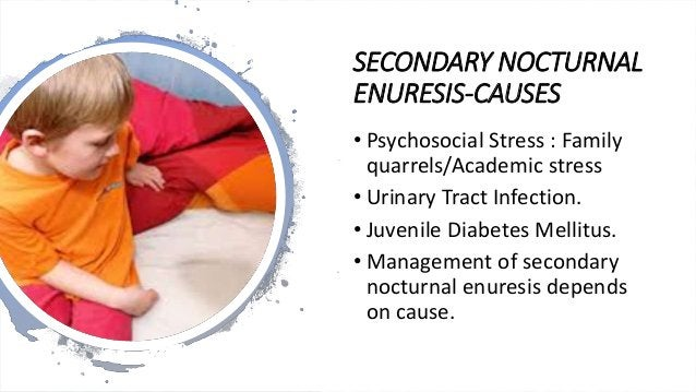 MANAGEMENT OF PRIMARY NOCTURNAL ENURESIS • Detailed clinical/developmental history • Family history • Rule out urinary tra...
