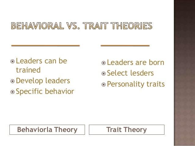 blog on trait theory