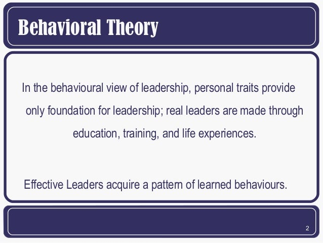 behavioral theories Behaviorist learning theory behaviorism is an approach to psychology based on the proposition that behavior can be researched scientifically without recourse to.