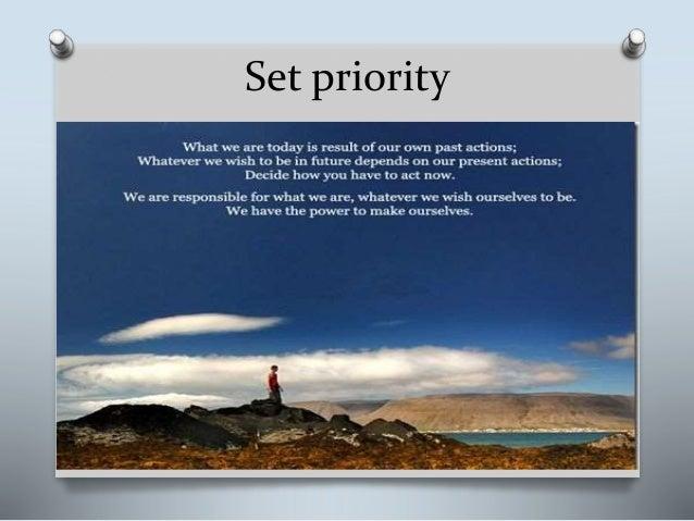 Set priority