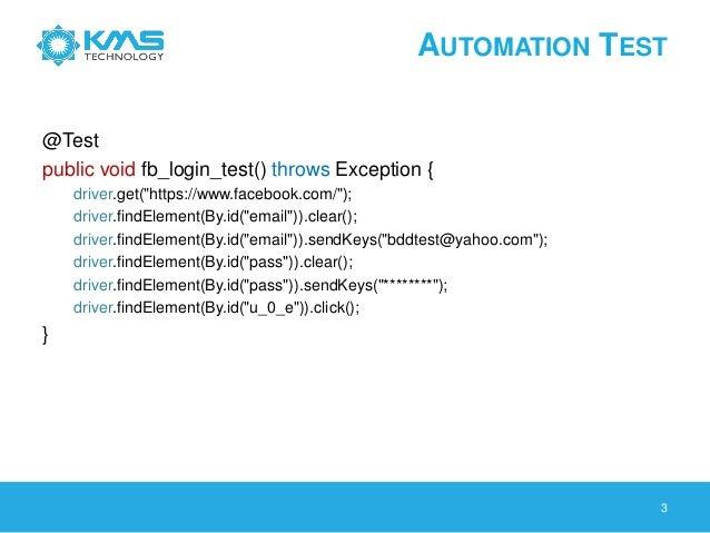 Behavior Driven Development and Automation Testing Using Cucumber Slide 3