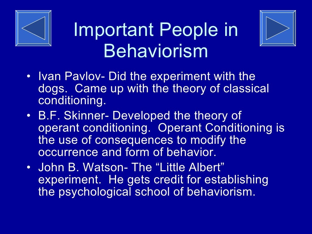 essay on behaviorism theory
