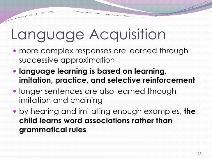 first language acquisition definition pdf