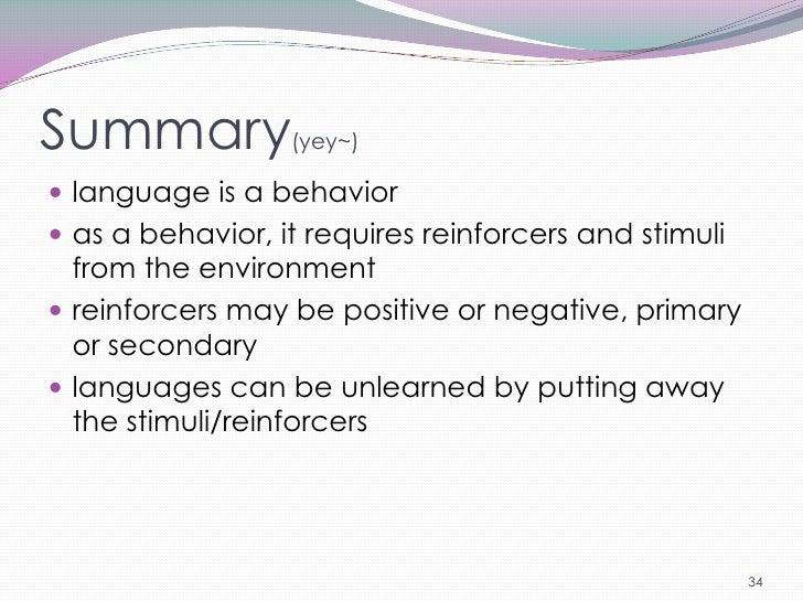 summary of behaviorism