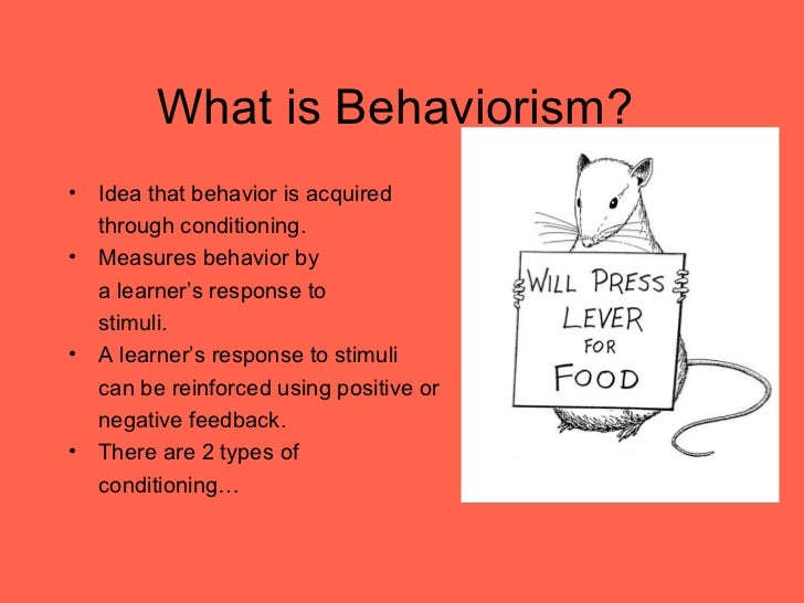 the behaviorist theory