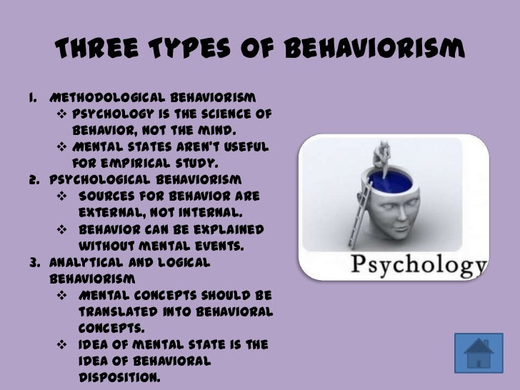 behaviorism in psychology Behavioral psychologists at mid-century (1930s to 1950s) hoped to find powerful   behaviorists thought it was very important to study only measurable things.