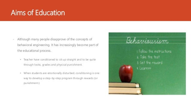 behaviorism philosophy of education pdf