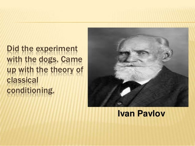 how the concept of classical conditioning can be use to modify behavior of criminals Conditioning and learning  classical conditioning, operant conditioning  2  language and conditioning: can language learning be explained using classical and.