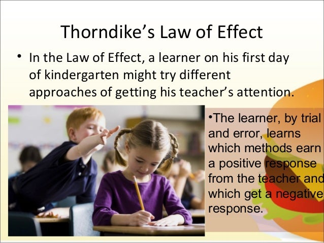 thorndikes law of effect operant conditioning essay Outline the principles of operant conditioning one way to expand the use of operant learning is to modify edward thorndike developed the law of effect:.
