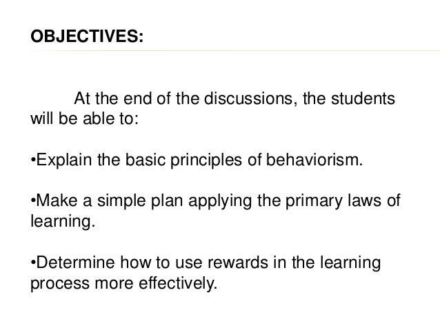Behaviorist perspective Slide 2