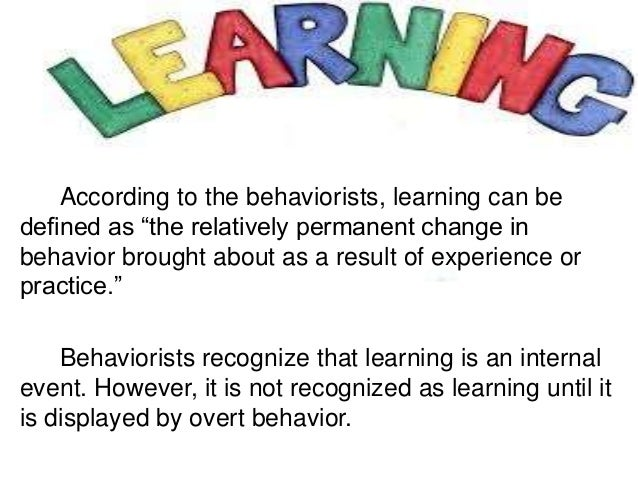 What principles of behaviorism are represented