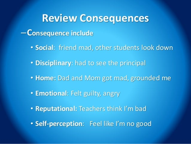 consequences of bad behavior